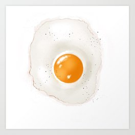 Sunny-side Up Egg Art Print