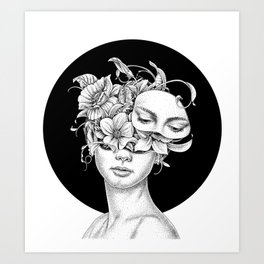 Flower Girl 6 Art Print