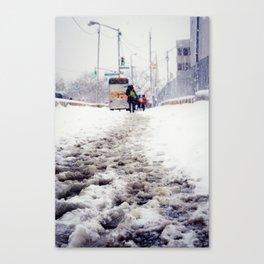 Snowy Day on Queens Blvd Canvas Print