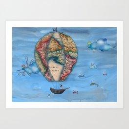 Pirate Balloon 2 Art Print