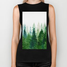 Pine Trees 2 Biker Tank