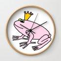 Cute Pink Frog Prince by ellenhenryart