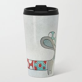 A Nice Little Dotted Dachshund Travel Mug