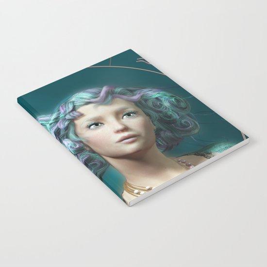Pisces zodiac fantasy circle Notebook