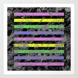 Linear Breakthrough - Abstract, geometric, textured artwork Art Print