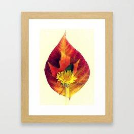 Stackable Leaves I Framed Art Print