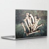 bones Laptop & iPad Skins featuring Bones by Maria Heyens