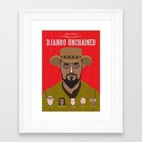 django Framed Art Prints featuring Django by Mohac