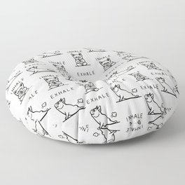 Inhale Exhale Frenchie Floor Pillow