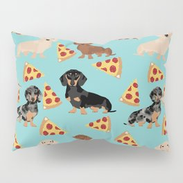 dachshund pizza multi coat doxie dog breed cute pattern gifts Pillow Sham