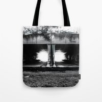 melbourne Tote Bags featuring Melbourne Tunnels by Paul Vayanos