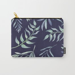 Floating Leaves Blue 2 #society6 #buyart Carry-All Pouch
