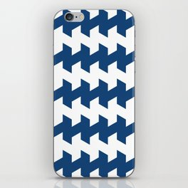 jaggered and staggered in monaco blue iPhone Skin