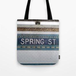 Spring Street Subway Tote Bag