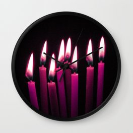 Candles in the wind III Wall Clock