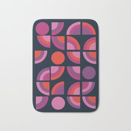 Outta Sight - 70s retro throwback trendy vintage style geometric 1970's Bath Mat