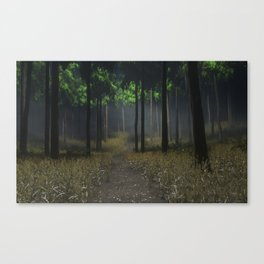 theres something in these woods Canvas Print