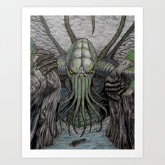 Cthulhu Walks Art Print