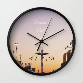 Dream it.Wish it. Do it Wall Clock