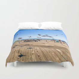 Seagulls of Coney Island Duvet Cover