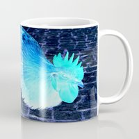 cock Mugs featuring cock animal by habish