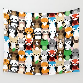 Animal Friends Wall Tapestry