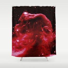 Red Horsehead NEbula Shower Curtain