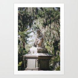 Bonaventure Cemetery - Statue of Eliza Wilhelmina Theus III Art Print