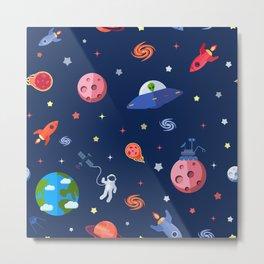 Modern Space Star Pattern Metal Print