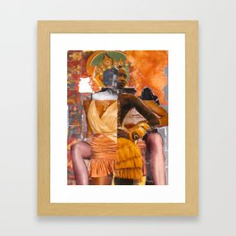 Hybridity, Race and Womanhood: Selves (Detail 5) Framed Art Print