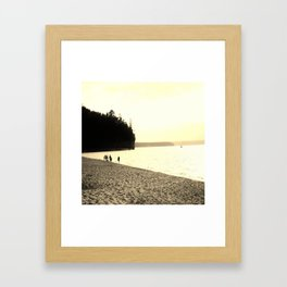 Lakeside Stroll  Framed Art Print