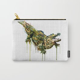 Alligator Watercolor Painting Carry-All Pouch
