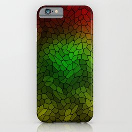 Volumetric texture of pieces of gold glass with a dark mysterious mosaic. iPhone Case