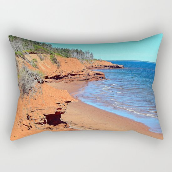 Red Cliffs of PEI Rectangular Pillow