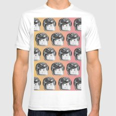 Minifigure Pattern - Hot Mens Fitted Tee MEDIUM White