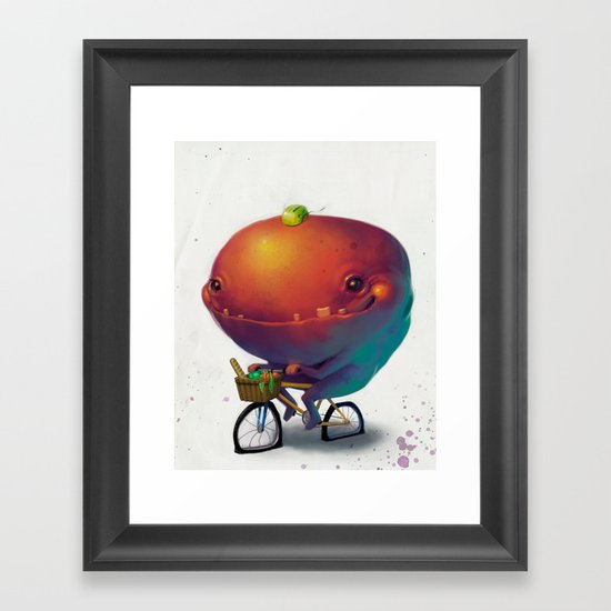 Bike Monster 2 Framed Art Print