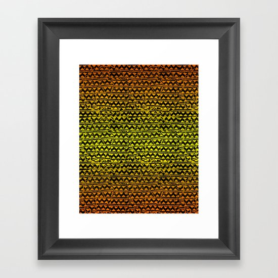 mosaic stripes Framed Art Print