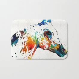Colorful Horse Art - Wild Paint - By Sharon Cummings Bath Mat