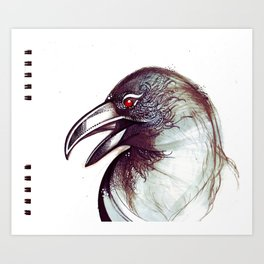 Crow and the Pitcher Art Print