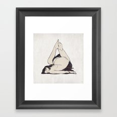 My Simple Figures: The Triangle Framed Art Print