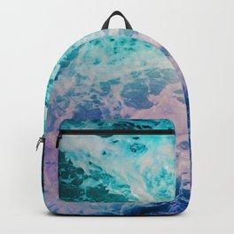 Magical Ocean Waves in Teal Ultra Violet Stars Backpack