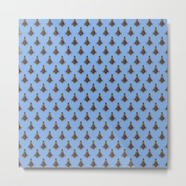 Freemasonry Pattern (Blue) Metal Print