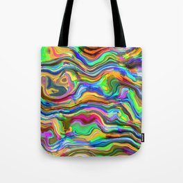 Psychedelic lines Tote Bag