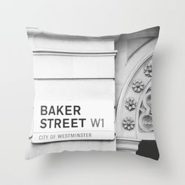 Baker Street, London Photography Throw Pillow