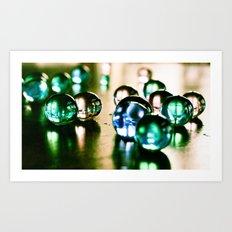 Droplets of Color Art Print