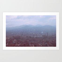 Misty Bologna Art Print
