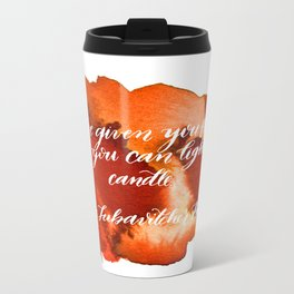 Rebbe Chanukah Quote Metal Travel Mug