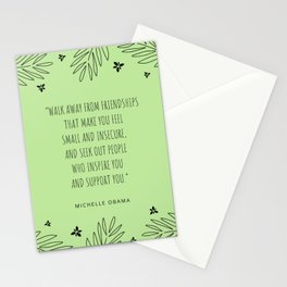"""Walk away from friendships that make you feel small and insecure ""  