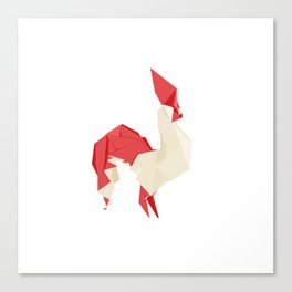 Origami Rooster Canvas Print