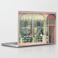 cafe Laptop & iPad Skins featuring Sweet Cafe by Cassia Beck